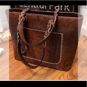 Amazing brown tote purse